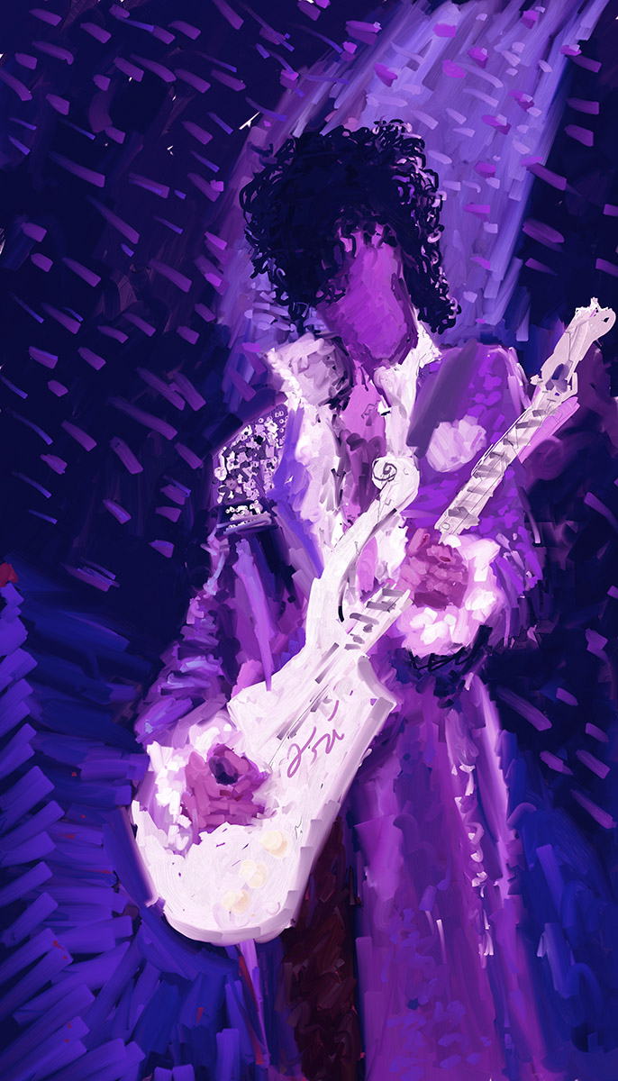 His Royal Badness - a Prince Tribute Painting by Ori Bengal