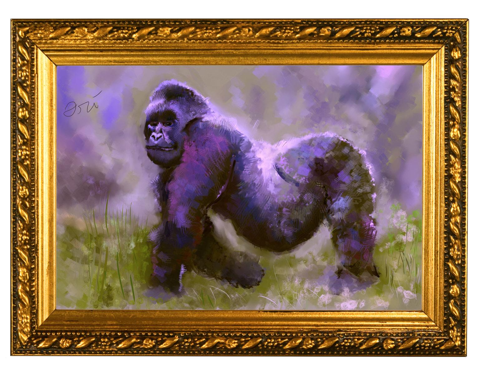 Harambe The Gorilla painting by Ori Bengal