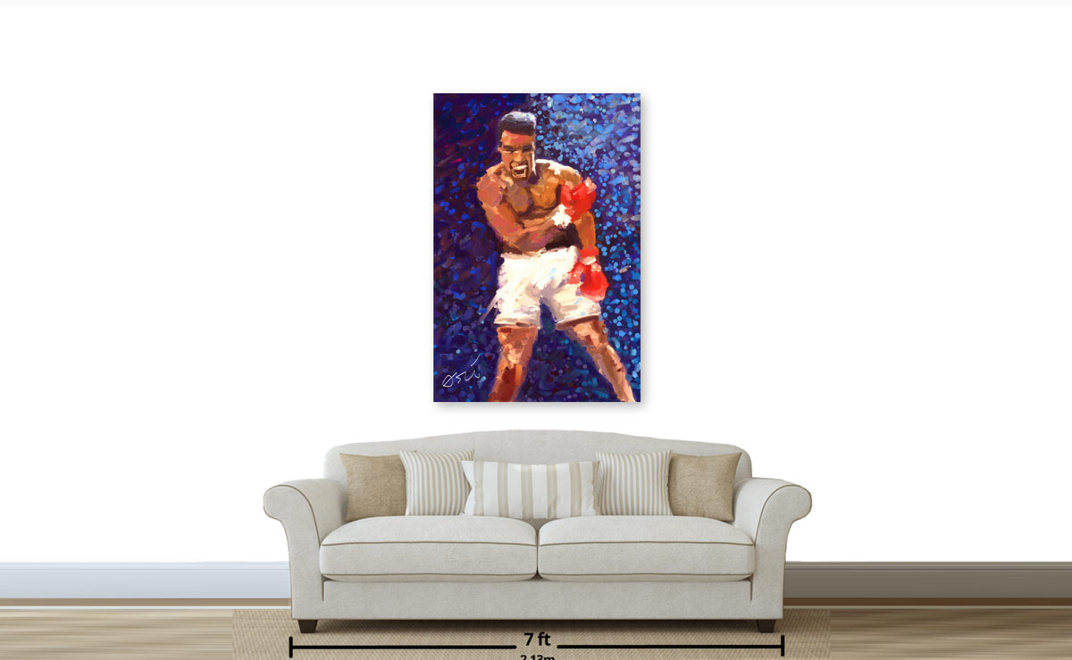 The 36x54 Original is great for the living room or private gym.
